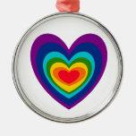 XX diseño del arte del corazón del arco iris Adorno De Reyes