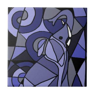 XX diseño del arte del elefante Azulejo Cuadrado Pequeño