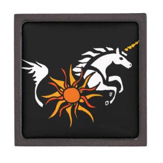 XX diseño del arte del unicornio Caja De Joyas De Calidad