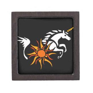 XX diseño del arte del unicornio Cajas De Regalo De Calidad