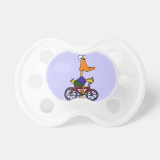 XX diseño divertido de la bicicleta del montar a c Chupete De Bebe
