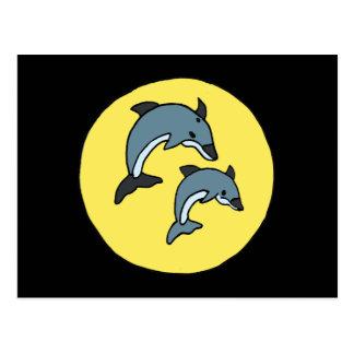XX diseño impresionante de los delfínes del salto Tarjeta Postal