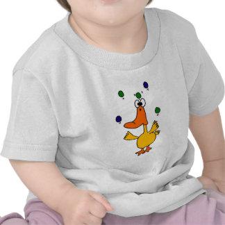 XX diseño que hace juegos malabares del pato de Camiseta