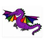 XX dragón de la púrpura Tarjetas Postales