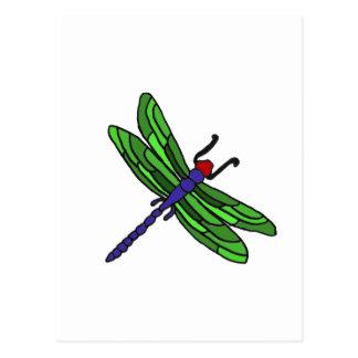 XX- Dragonfly artoon Postcard