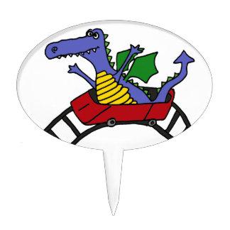 XX Draon divertido en una montaña rusa Figura De Tarta