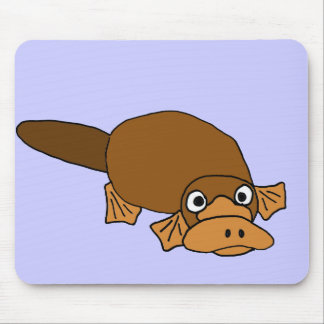 XX- Duck Billed Platypus Cartoon Mouse Pads