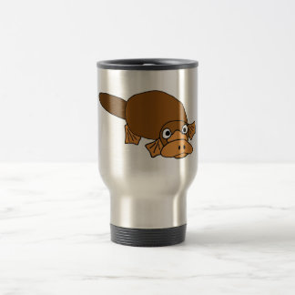 XX- Duck Billed Platypus Cartoon Travel Mug