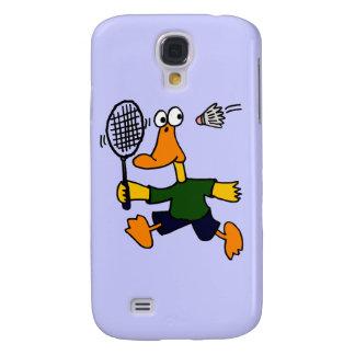 XX- Duck Playing Badminton Cartoon Samsung Galaxy S4 Cases