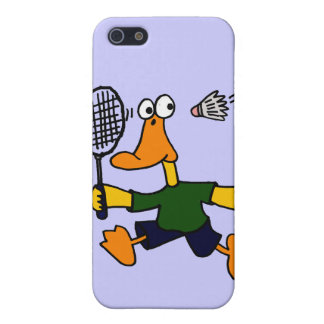 XX- Duck Playing Badminton Cartoon Case For iPhone SE/5/5s