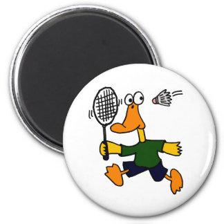 XX- Duck Playing Badminton Cartoon Magnet