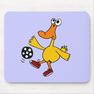 XX- Duck Playing Soccer Cartoon Mouse Pad