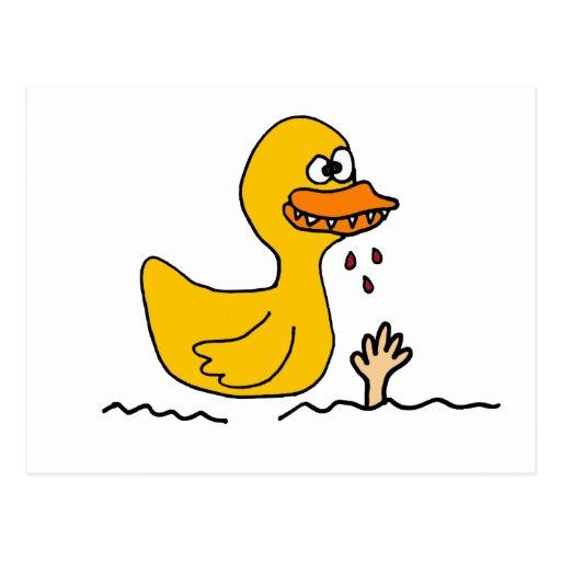 XX Ducky de goma ida malo Postales