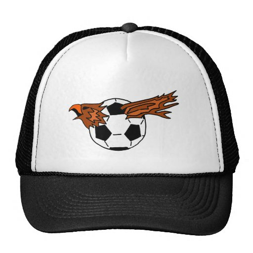 XX- Eagle Soraing from Soccer Ball Cartoon Trucker Hat
