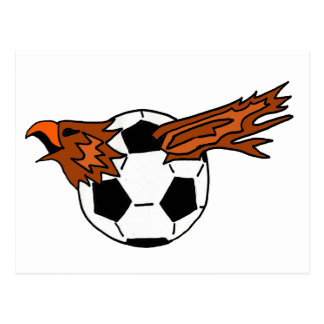 XX- Eagle Soraing from Soccer Ball Cartoon Post Card