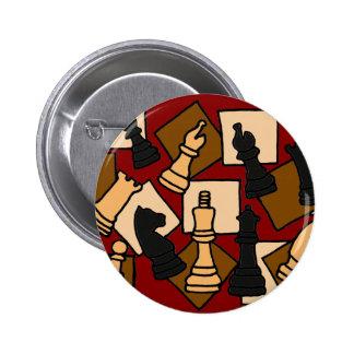 XX el juego de ajedrez impresionante junta las pie Pin Redondo 5 Cm