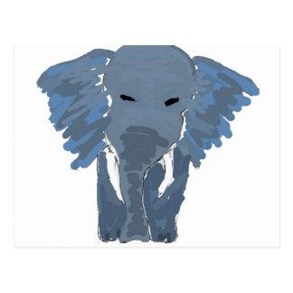 XX elefante artsy Tarjetas Postales