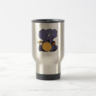 XX- Elephant Playing Drums Travel Mug