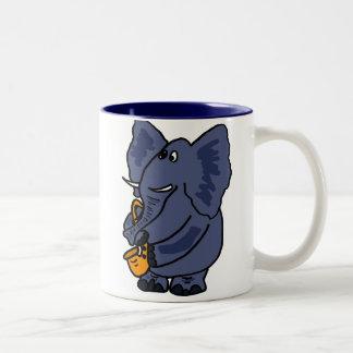 XX- Elephant Playing Saxophone Mug