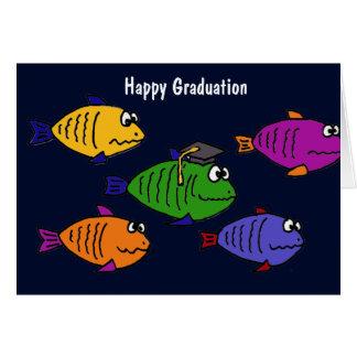 XX escuela feliz de la graduación de pescados Tarjeta De Felicitación