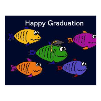 XX escuela feliz de la graduación de pescados Postales