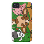 XX- Farm Yard Animals Folk Art Design iPhone 4 Cover