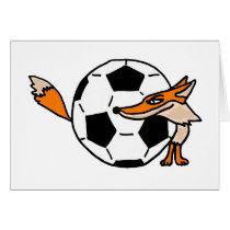 XX- Fox Behind a Soccer ball Art