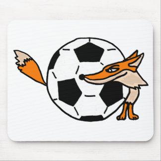 XX- Fox Behind a Soccer ball Art Mouse Pad