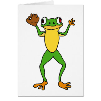 XX- Frog Star Outfielder Greeting Card