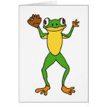 XX- Frog Star Outfielder Greeting Cards