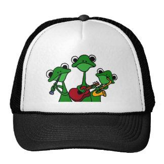 XX- Frogs Playing Music Cartoon Trucker Hat