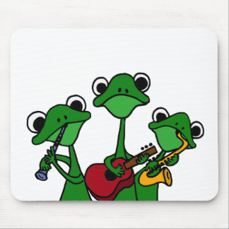 XX- Frogs Playing Music Cartoon Mouse Pad