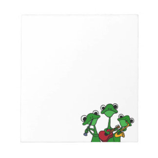 XX- Frogs Playing Music Cartoon Memo Notepad