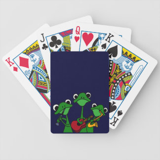 XX- Frogs Playing Music Cartoon Bicycle Poker Cards