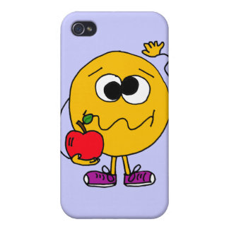 XX- Fruity Smiley Face Eating an  Covers For iPhone 4