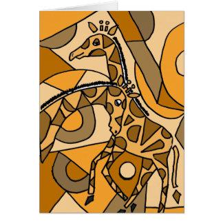 XX- Fun Giraffe Art Card