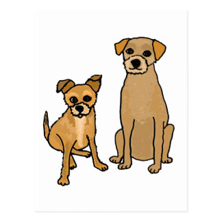 XX- Fun Terrier Mix Rescue Dogs Cartoon Post Cards