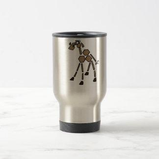 XX- Funky Abstract Art Camel Travel Mug