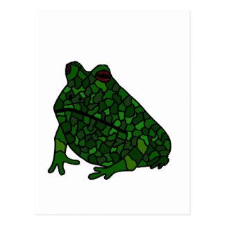 XX- Funky Frog Art Postcard
