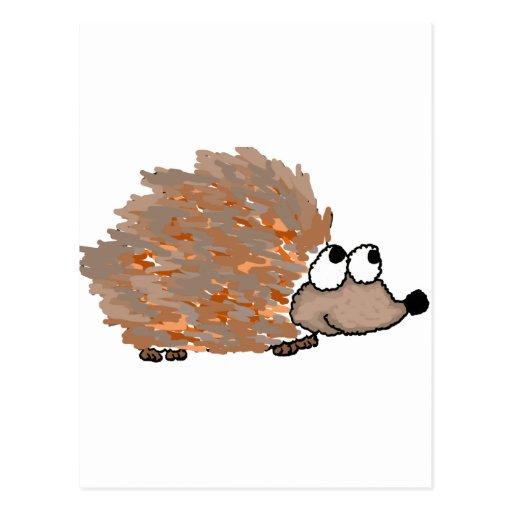 XX- Funky Hedgehog Postcard
