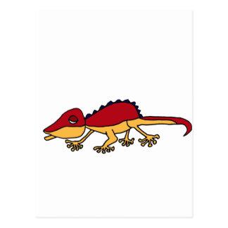 XX- Funky Lizard Art Postcard