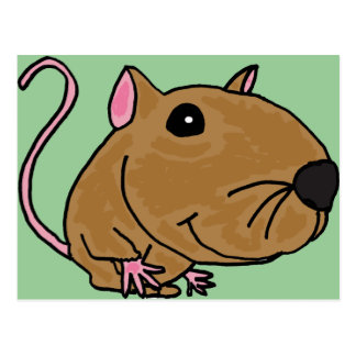 XX- Funky Mouse Postcard
