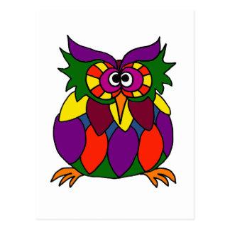 XX- Funky Owl Art Cartoon Postcard