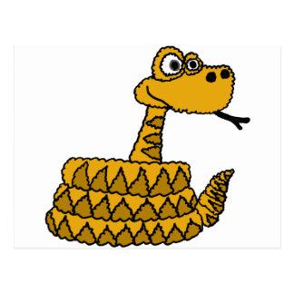 XX- Funky Rattlesnake Cartoon Postcard