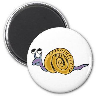 XX- Funky Snail 2 Inch Round Magnet