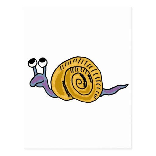 XX- Funky Snail Postcard