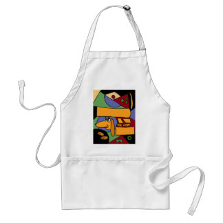 XX- Funny Abstract Art Dachshund Adult Apron