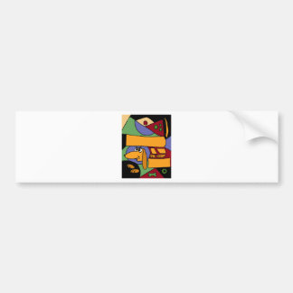 XX- Funny Abstract Art Dachshund Car Bumper Sticker