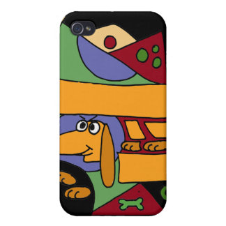 XX- Funny Abstract Art Dachshund iPhone 4/4S Cover