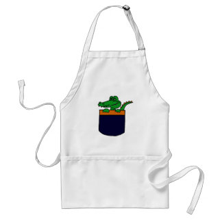XX- Funny Alligator in a Pocket Aprons